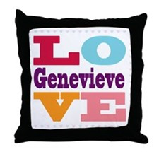I Love Genevieve Throw Pillow