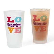 I Love Genevieve Drinking Glass
