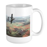 Aircraft bronco Large Mugs (15 oz)