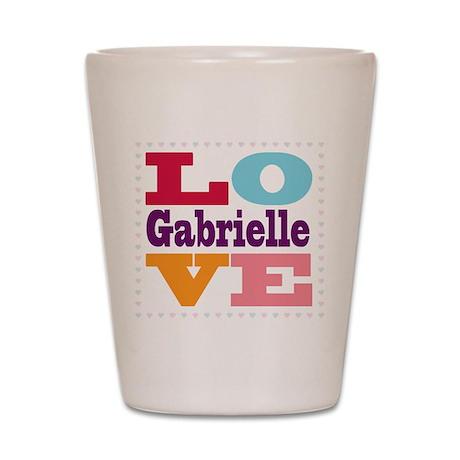 I Love Gabrielle Shot Glass