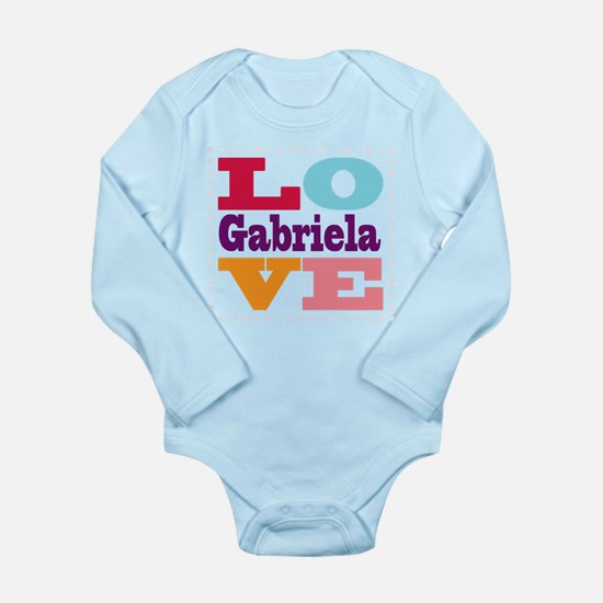 I Love Gabriela Long Sleeve Infant Bodysuit
