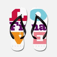 I Love Fiona Flip Flops