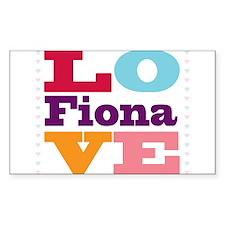 I Love Fiona Decal