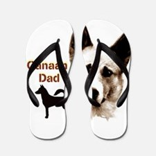 canaan dog dad Flip Flops