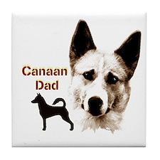 canaan dog dad Tile Coaster