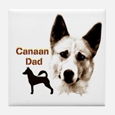 canaan dog dad Tile Coaster