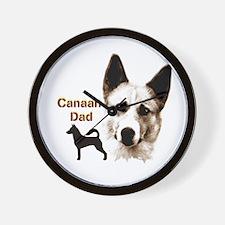 canaan dog dad Wall Clock