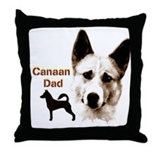 canaan dog dad Throw Pillow