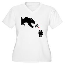 Cupid Meets A Dinosaur T-Shirt
