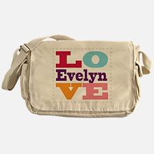 I Love Evelyn Messenger Bag