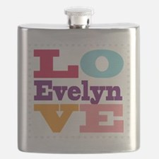 I Love Evelyn Flask