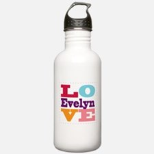 I Love Evelyn Water Bottle