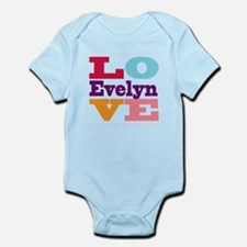 I Love Evelyn Infant Bodysuit