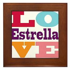 I Love Estrella Framed Tile