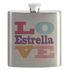I Love Estrella Flask