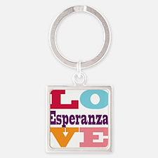 I Love Esperanza Square Keychain
