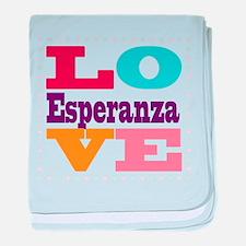 I Love Esperanza baby blanket