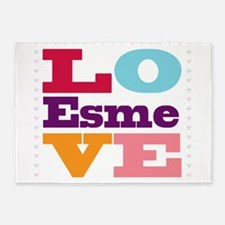 I Love Esme 5'x7'Area Rug