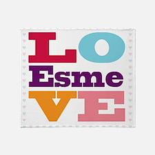 I Love Esme Throw Blanket
