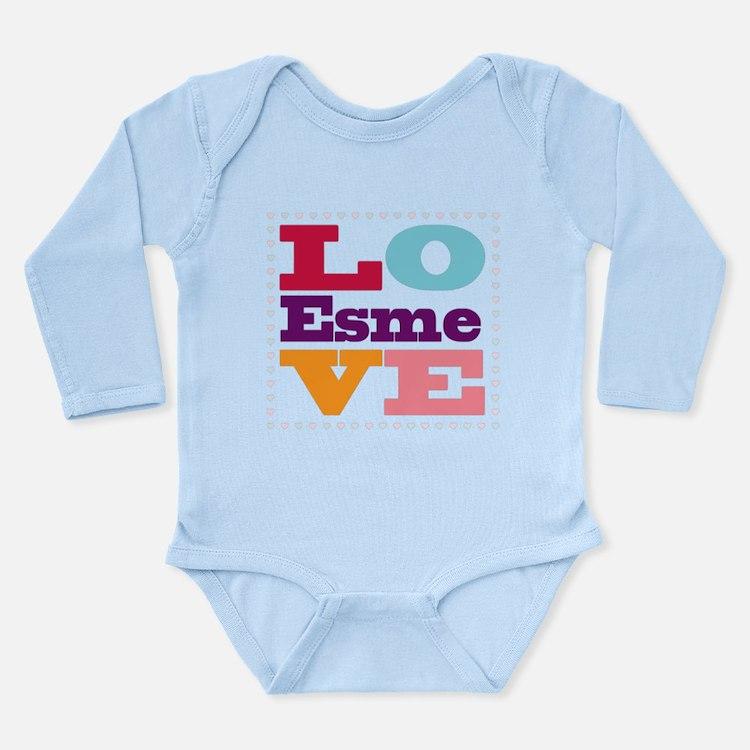 I Love Esme Long Sleeve Infant Bodysuit