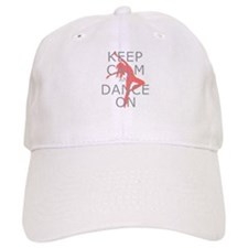 Modern Keep Calm and Dance On Baseball Cap