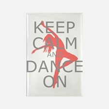 Modern Keep Calm and Dance On Rectangle Magnet (10
