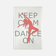Modern Keep Calm and Dance On Rectangle Magnet