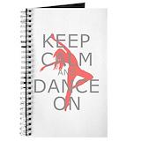 Keep calm and dance on Journals & Spiral Notebooks