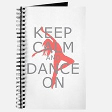 Modern Keep Calm and Dance On Journal