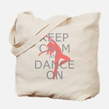 Modern Keep Calm and Dance On Tote Bag