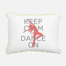 Modern Keep Calm and Dance On Rectangular Canvas P