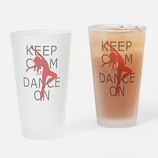 Modern Keep Calm and Dance On Drinking Glass