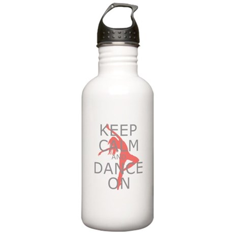 Modern Keep Calm and Dance On Stainless Water Bott