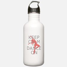 Modern Keep Calm and Dance On Water Bottle