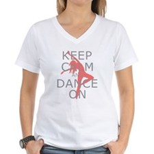 Modern Keep Calm and Dance On Shirt