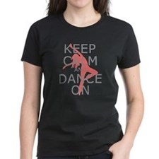 Modern Keep Calm and Dance On Tee
