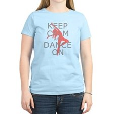 Modern Keep Calm and Dance On T-Shirt