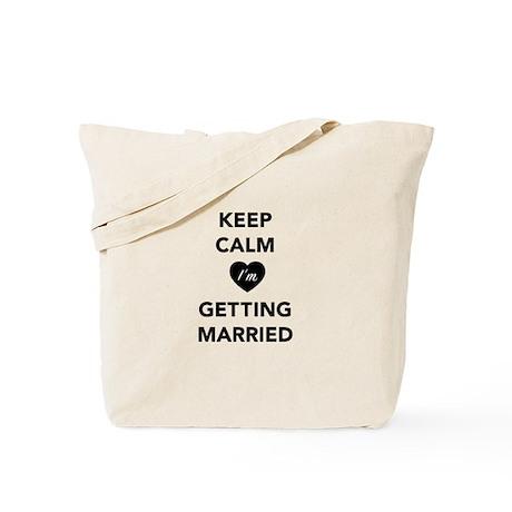 Keep Calm I'm Getting Married Tote Bag