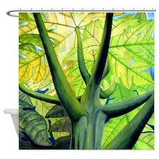Papaya Tree Tropical Shower Curtain