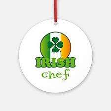 Irish Chef St Patricks Ornament (Round)