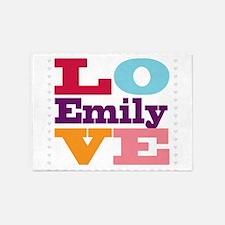 I Love Emily 5'x7'Area Rug