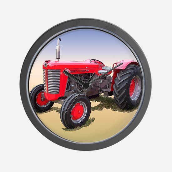 Cute Tractor pulling Wall Clock