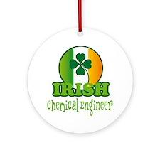 Irish Chemical Engineer St Patricks Ornament (Roun