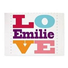 I Love Emilie 5'x7'Area Rug
