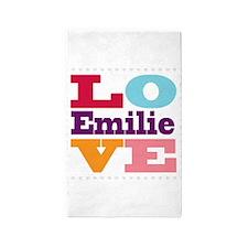 I Love Emilie 3'x5' Area Rug