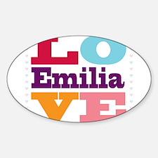 I Love Emilia Decal