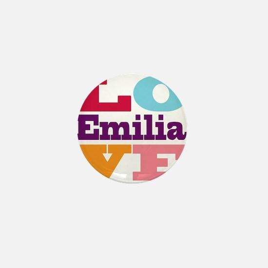 I Love Emilia Mini Button