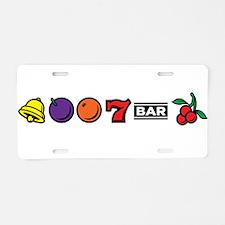 Vegas Slot Machine Aluminum License Plate