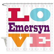 I Love Emersyn Shower Curtain