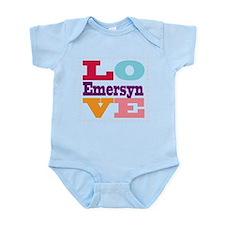 I Love Emersyn Infant Bodysuit